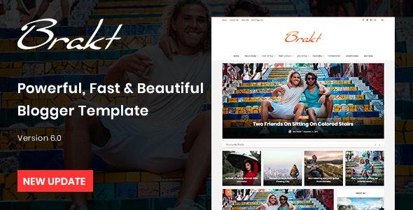 Brakt - Personal Blogger Template - Blogger Blogging