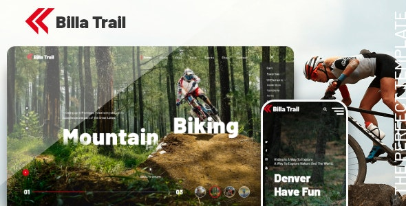 Billatrail - Motorcycle and Bike Rider HTML Template - Nonprofit Site Templates