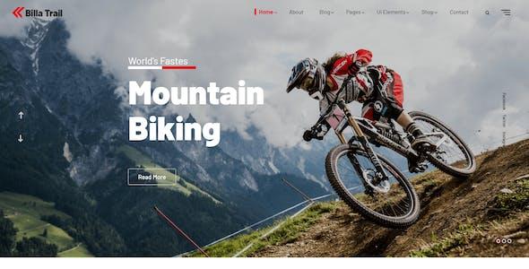Billatrail - Motorcycle and Bike Rider HTML Template