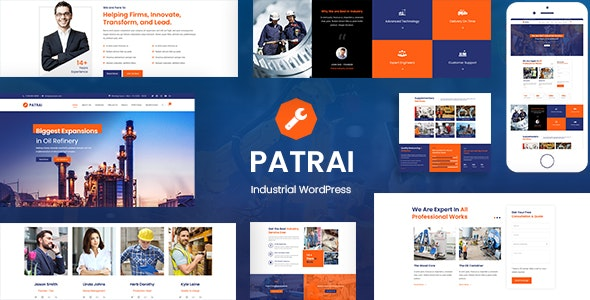 Patrai Industry - Industrial WordPress Theme - Business Corporate