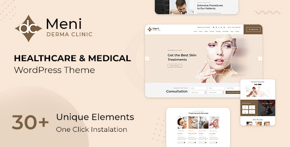 Meni - Healthcare Medical Doctor WordPress Theme - Health & Beauty Retail