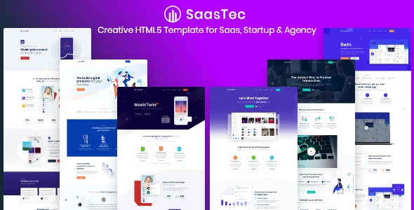 App Landing and Saas - Saastec - Technology Site Templates
