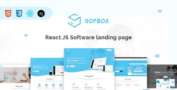 SOFBOX - React JS Software Landing Page by iqonicdesign