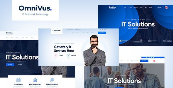 Omnivus |  Technology IT Solutions & Services PSD Template - Business Corporate