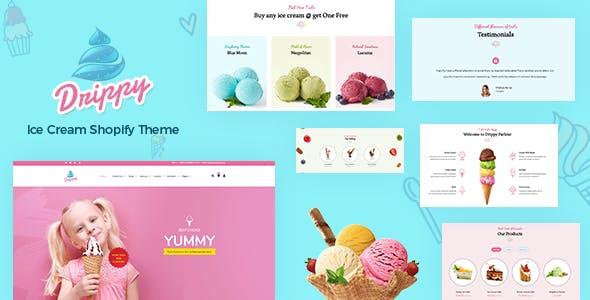 Drippy - Cake Shop, Ice Cream Store Shopify Theme