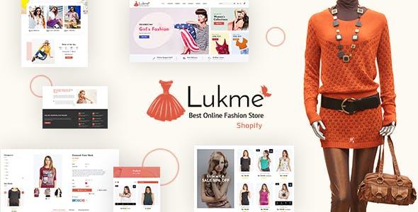 Lukme   Fashion Store Shopify Theme