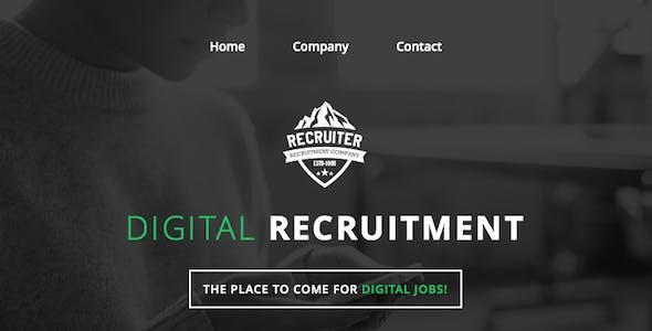 Recruiter - Responsive Email + Online Builder