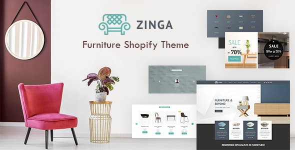 Zinga | Furniture, Decor & Interior Store Shopify Theme - Entertainment Shopify