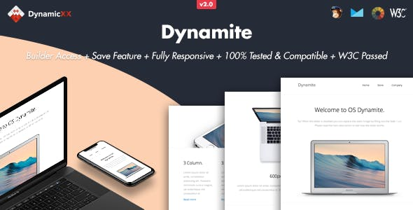 Dynamite - Responsive Email + Online Builder
