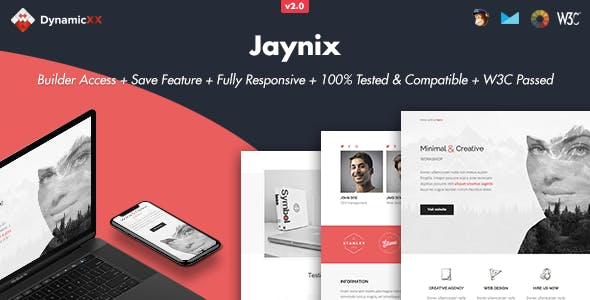 Jaynix - Responsive Email + Online Template Builder