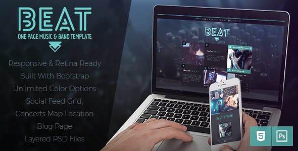 Beat -  One-Page HTML5 Music & Band Template