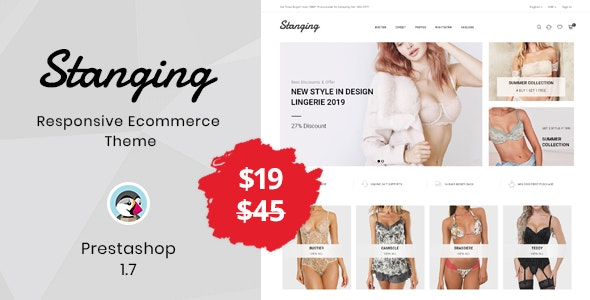 Stanging - Lingerie Prestashop Theme - Fashion PrestaShop