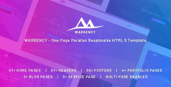 Wargency – Onepage Creative Agency Responsive HTML5 Template - Portfolio Creative