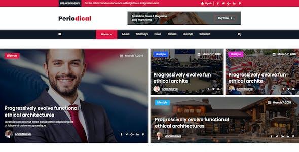 Periodical - News & Magazine Blogger PSD Template