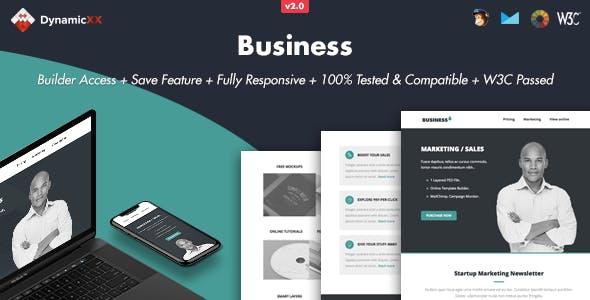 Business - Responsive Email + Online Builder