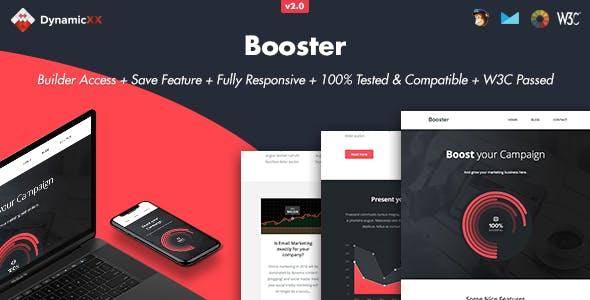 Booster - Responsive Email + Online Builder