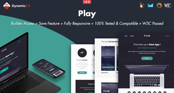 Play - Responsive Email + Online Template Builder - Email Templates Marketing