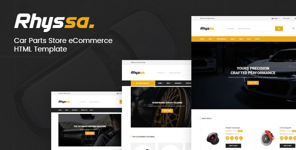 Rhyssa - Car Parts Store eCommerce  HTML Template - Shopping Retail
