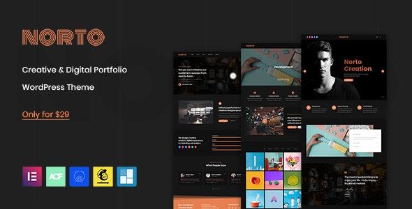 Norto - Creative Portfolio WordPress Theme - Portfolio Creative