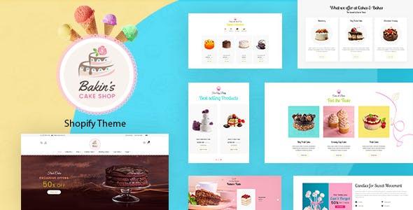 Bakins | Shopify Cake Shop, Bakery Theme