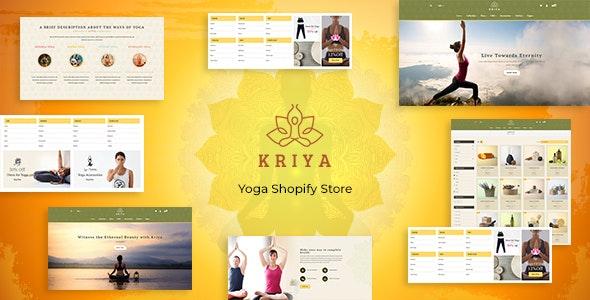 Kriya - Yoga Shopify Store - Health & Beauty Shopify