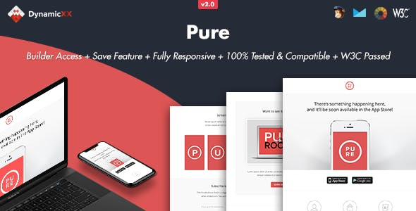 Pure - Responsive Email + Online Template Builder