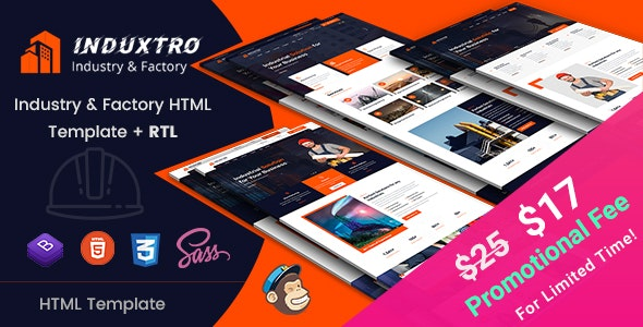 Induxtro - Industry & Factory HTML Template - Business Corporate