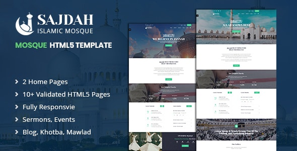 Sajdah | Mosque & Islamic Center HTML5 Template - Churches Nonprofit