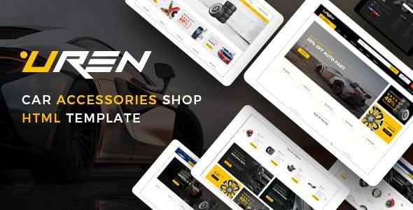 Uren - Car Accessories Shop HTML Template - Shopping Retail