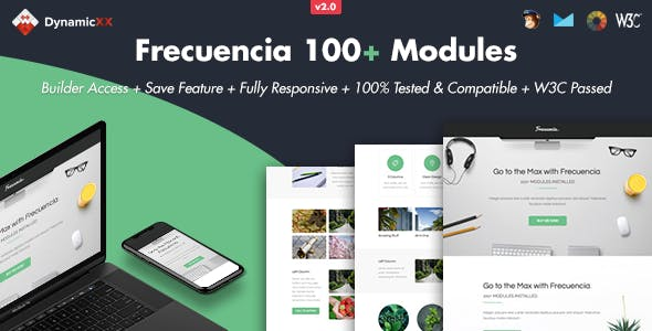 Frecuencia - 100+ Modules - Email + Online Template Builder