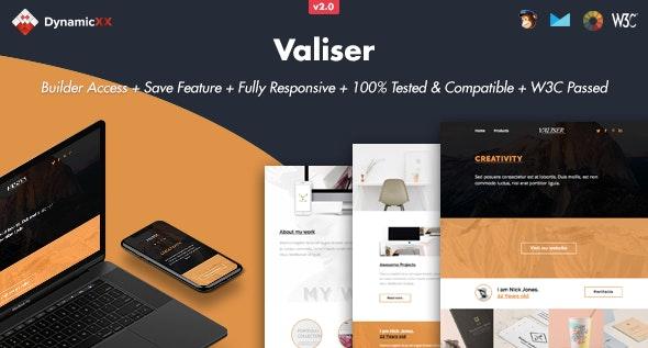 Valiser - Responsive Email + Online Template Builder - Email Templates Marketing