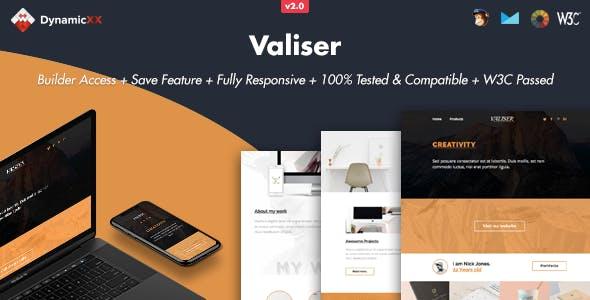 Valiser - Responsive Email + Online Template Builder