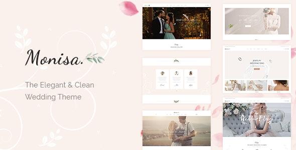 Monisa - Elegant & Clean Wedding Theme - Wedding WordPress