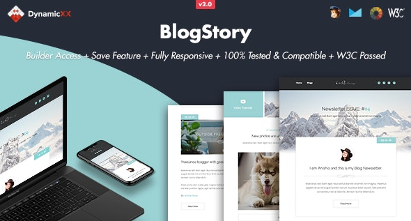 BlogStory - Responsive Email + Online Template Builder - Email Templates Marketing
