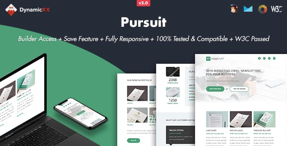 Pursuit - Responsive Email + Online Template Builder