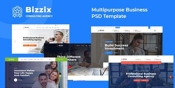 Bizzix - Multipurpose Business PSD Template