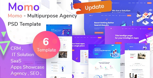 Momo - Multipurpose Agency PSD Template - Creative Photoshop