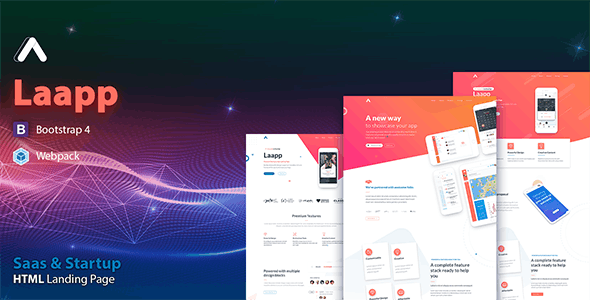 Laapp - App Landing Page - Software Technology