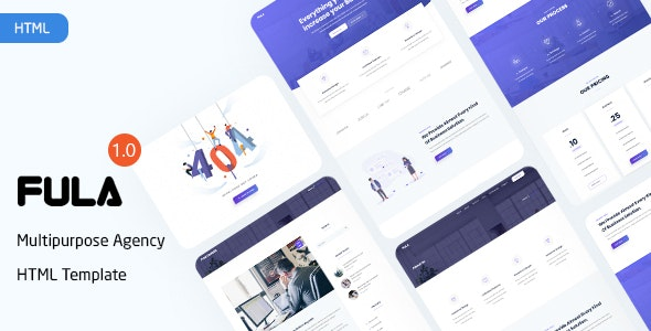 Fula - Creative Landing Page Agency Template - Marketing Corporate