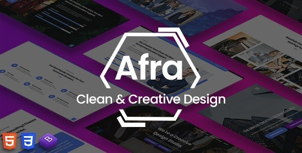 Afra - Multipurpose Business & Agency HTML5 Template - Business Corporate
