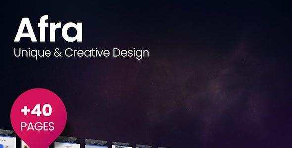 Afra - Multipurpose Business & Agency HTML5 Template