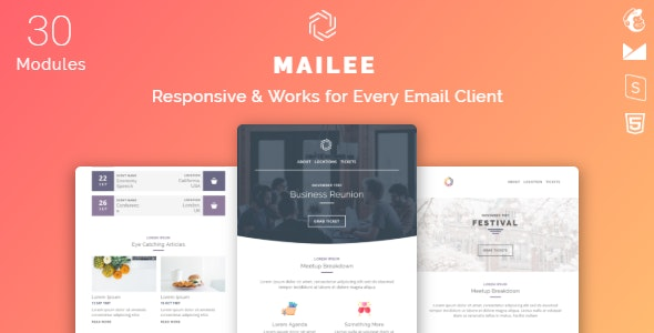 Mailee Responsive Multipurpose Email Template - Newsletters Email Templates