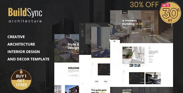 Build Sync - Architecture & Interior HTML Template - Business Corporate
