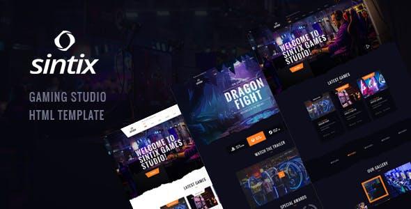 Sintix - Gaming Studio HTML Template