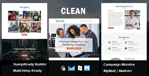 Clean - Multipurpose Responsive Email Template With Mailchimp Editor - Newsletters Email Templates