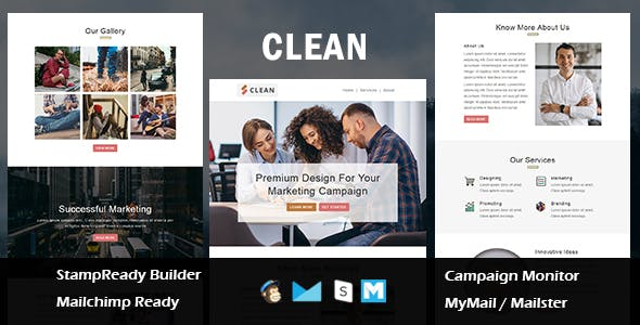 Clean - Multipurpose Responsive Email Template With Mailchimp Editor