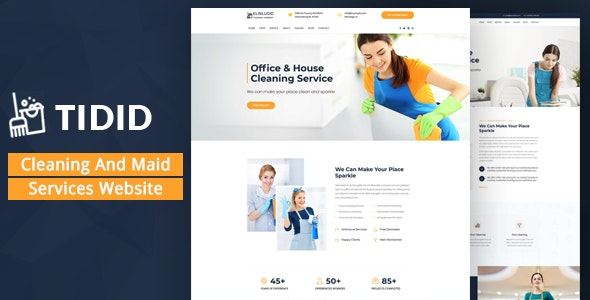 Tidid – Cleaning and Maid Services Responsive Website - Business Corporate