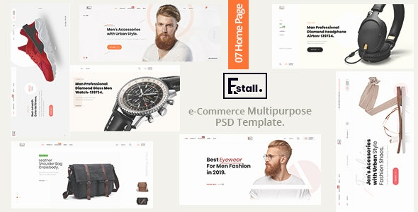 Estall - e-Commerce Multipurpose PSD Template - Retail PSD Templates