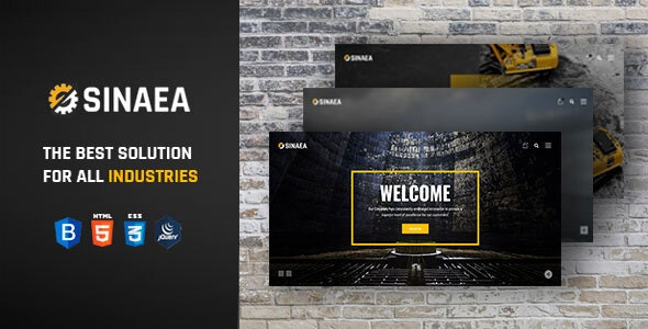 SINAEA - Factory and Industrial Business HTML5 Template + RTL - Business Corporate