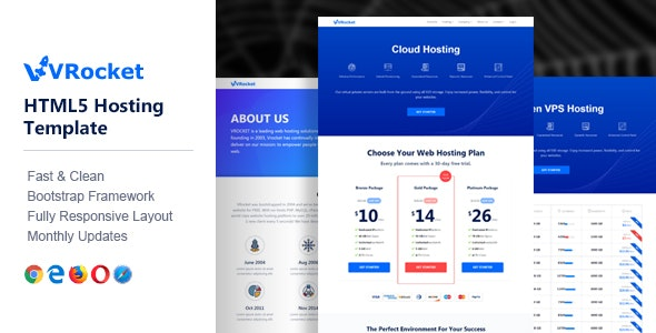 VirtualRocket - HTML Hosting Template by NiftyTheme
